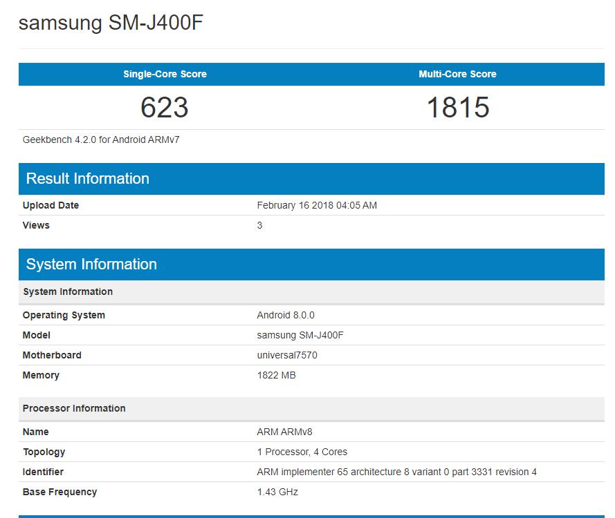 Galaxy-J4-benchmarks