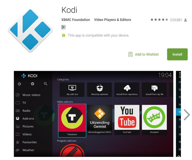 kodi download app store