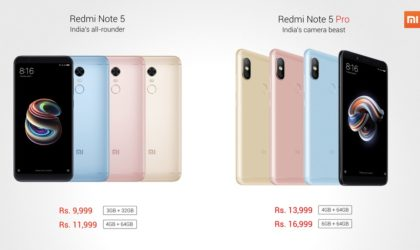 Xiaomi Redmi Note 5 and Note 5 Pro unveiled: Specs and price details