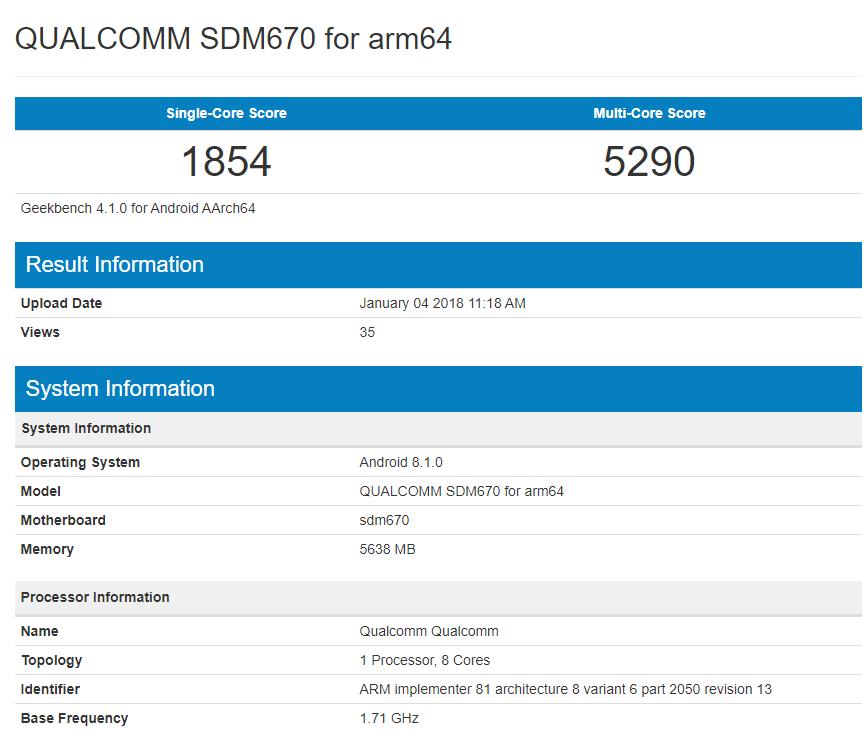 Qualcomm Snapdragon 670