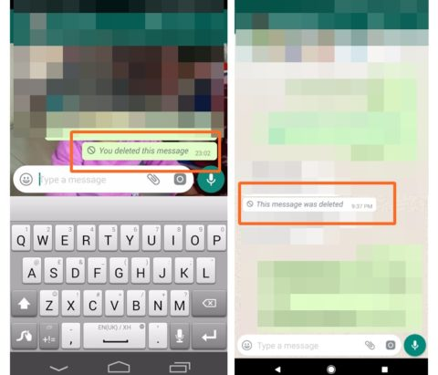 When can deleted WhatsApp messages still be seen?