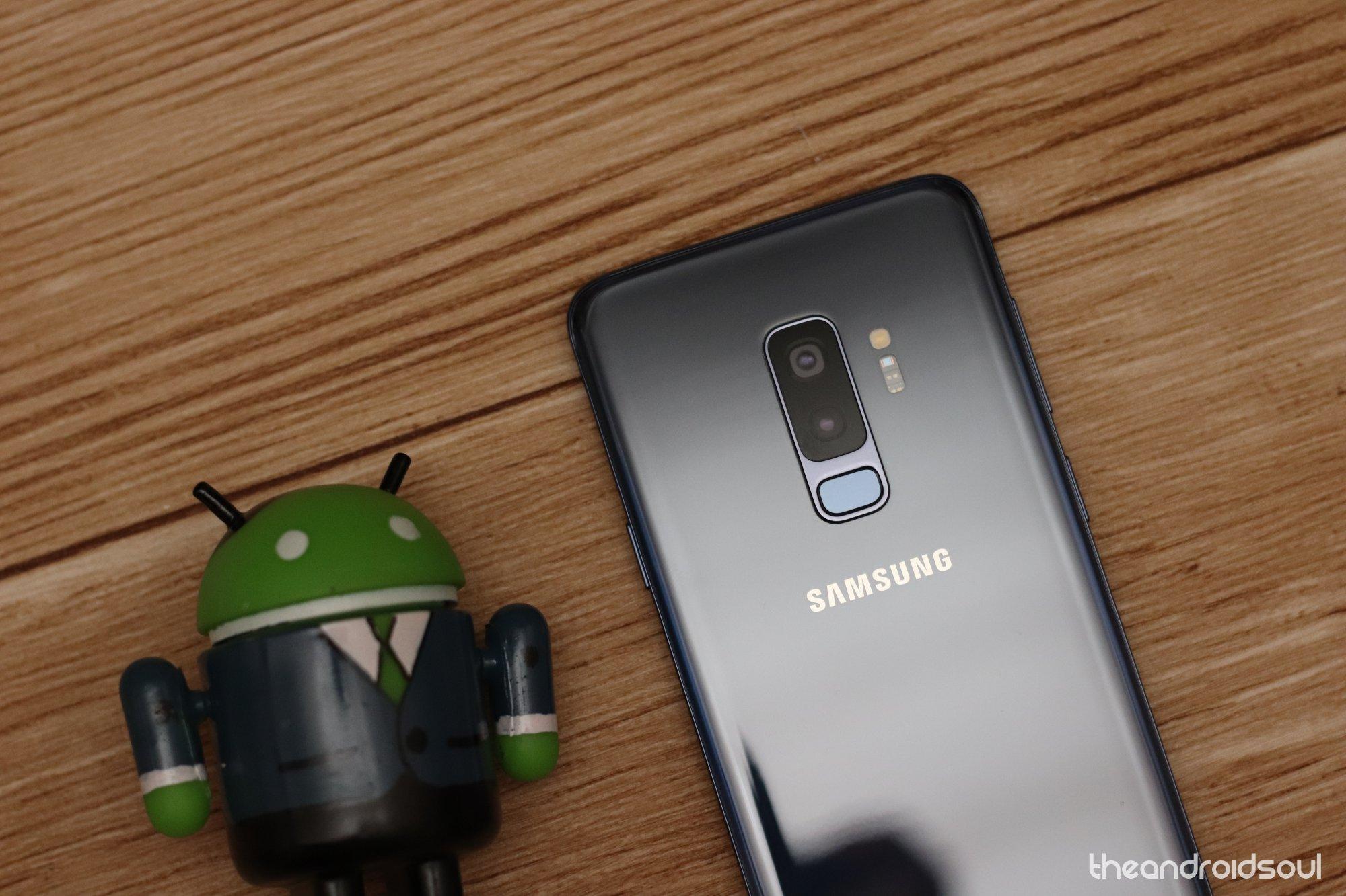 Galaxy S9 Plus screenshot edge