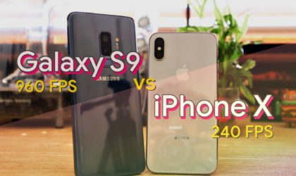 [Video] Galaxy S9 vs iPhone X slow motion comparison