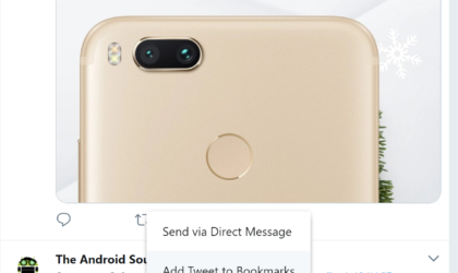 How to bookmark Tweets on Android, iOS and web browser
