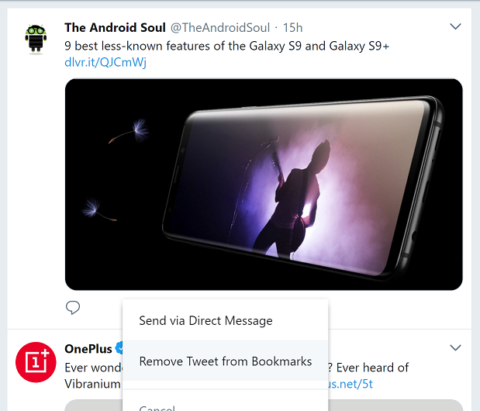 How to delete bookmarked Tweets on Android, iOS and web browser