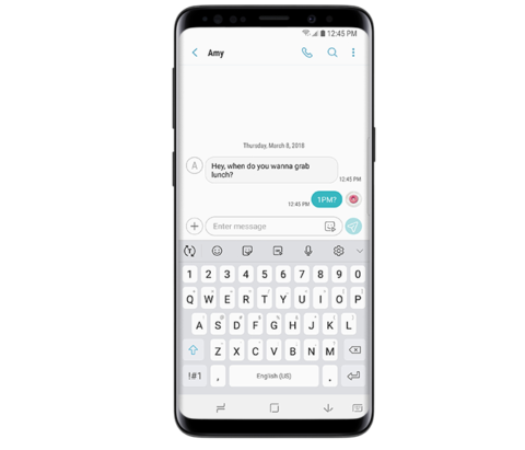 How to fix Galaxy S9 Messaging app bubble colors not changing or visible problem