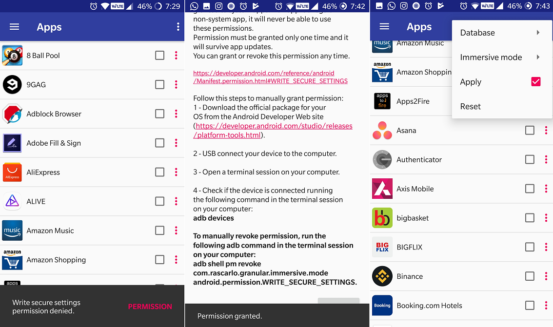 How to hide Status and Navigation bar in all apps on your
