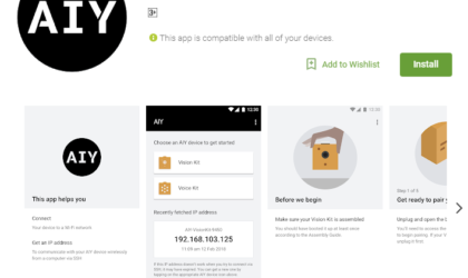 Google AIY Projects now available for download on Play Store