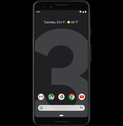 Google-Pixel-3-Just-Black-Front