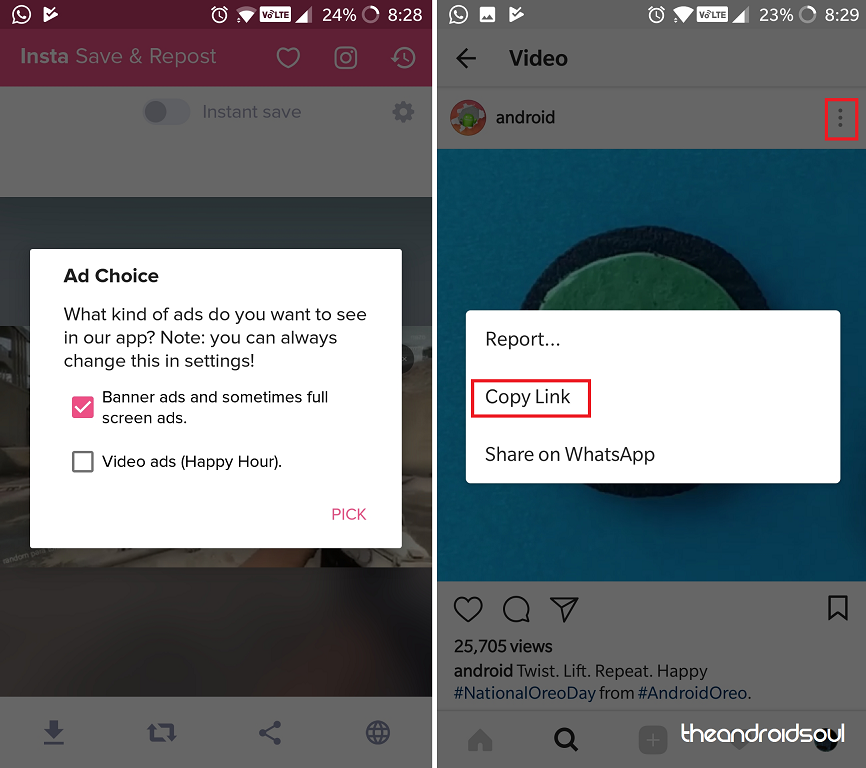 How to save pictures and videos from Instagram on your