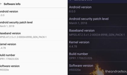 LG V30 Oreo update available in Canada as version H93320e