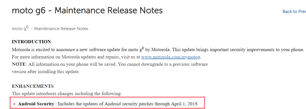 Moto-G6-March-update-release-notes