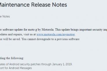 Moto G6 update