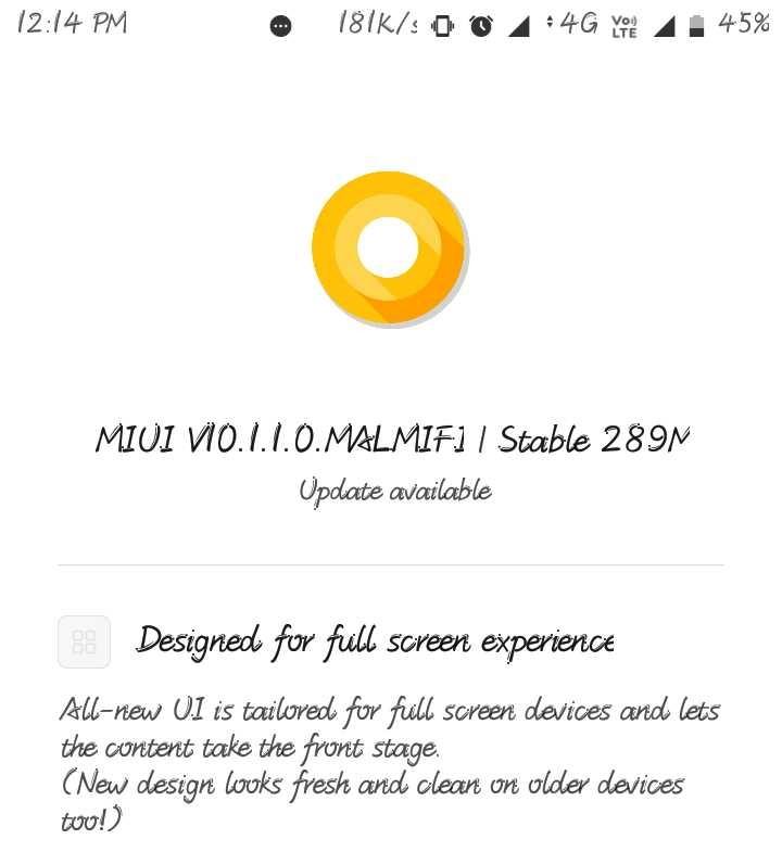 Redmi 3S MIUI 10 update