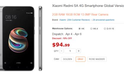 [Deal] Get Xiaomi Redmi 5A for just $95