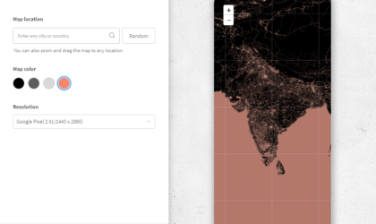 How to get a minimal wallpaper of your City, Country, or any place on Earth that's on the Map