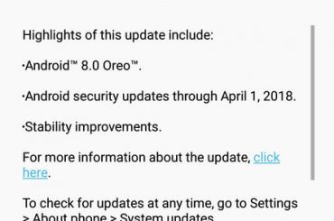 moto z play Oreo update India