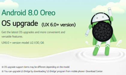 Android 8.0 Oreo released for LG G6 in Korea