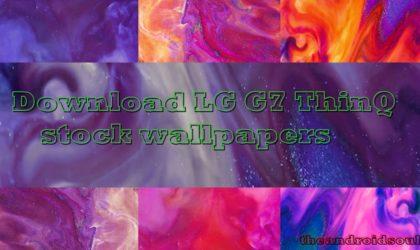 Download LG G7 stock wallpaper pack