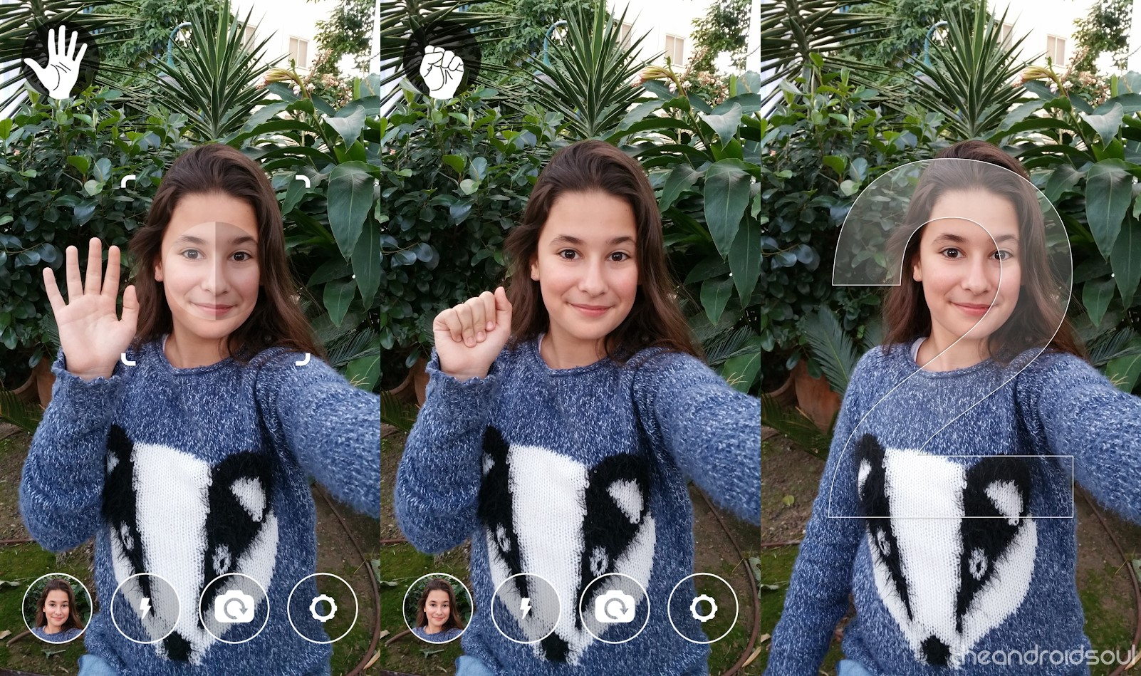 snapi gesture selfie
