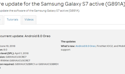 AT&T Galaxy S7 Active gets the Android 8.0 Oreo OTA rolling out