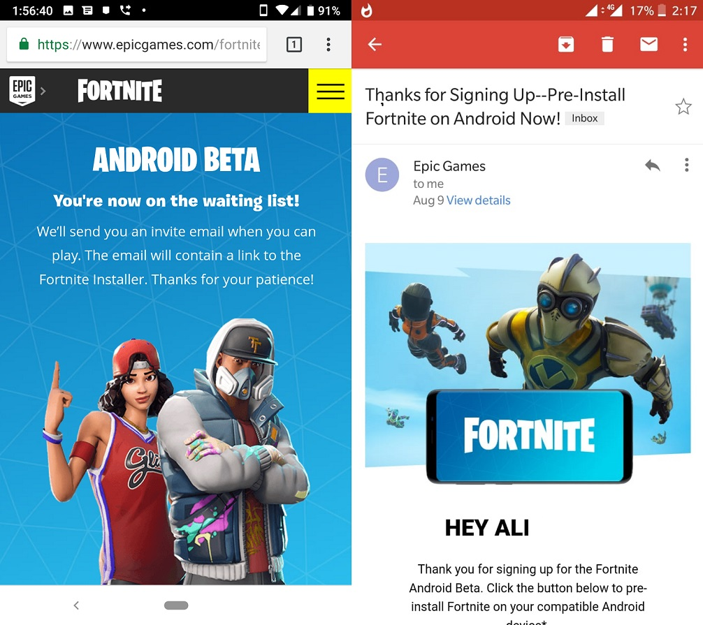 Fortnite For Android Release Date And Device List
