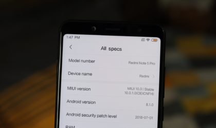 Stable MIUI 10 update available for Redmi Note 5 in China