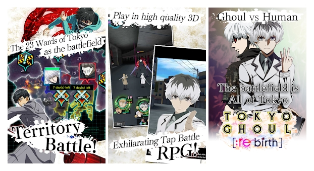 TOKYO GHOUL Re Birth Launching Soon On The Play Store Available For Pre Registration Now