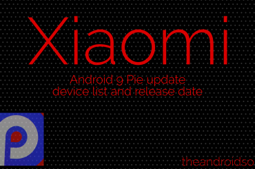 Xiaomi Pie update release