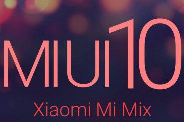 MIUI 10 mi mix