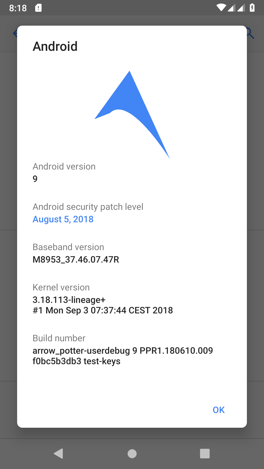 Moto-G5-Plus-Android-9-ArrowOS-3