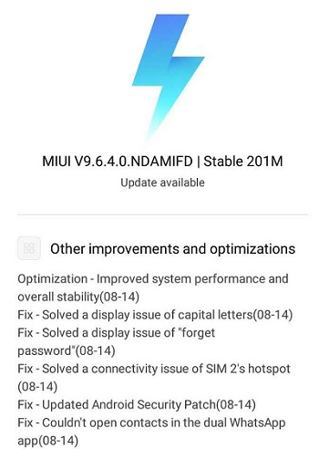 Xiaomi Redmi 5 Update 9 6 4 Based On Miui 9 Is Seeding Out