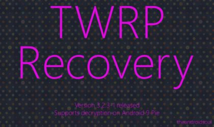 TWRP 3.2.3-1 adds decrypt support for Android 9 Pie, available for Pixel devices