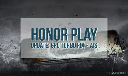 Honor Play gets new update that brings AIS and GPU Turbo fix (version 8.2.0.125)