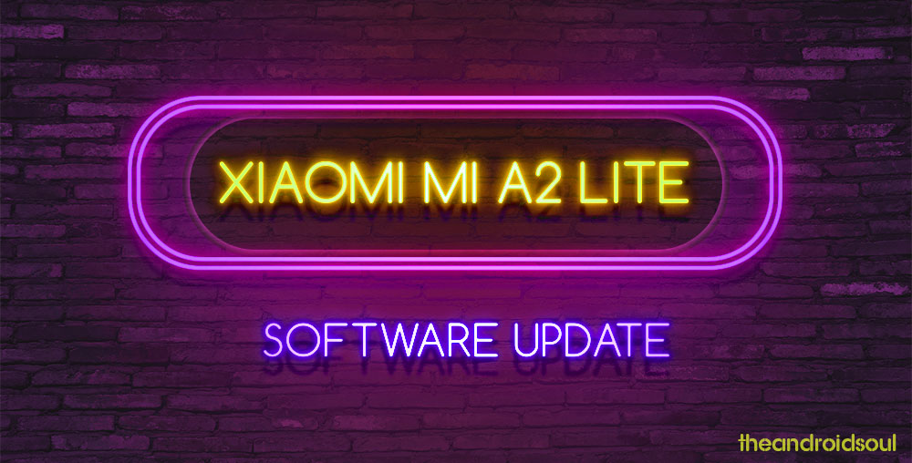 Mi A2 Lite software update