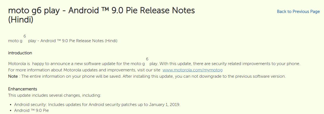Moto-G6-Play-India-Pie-update