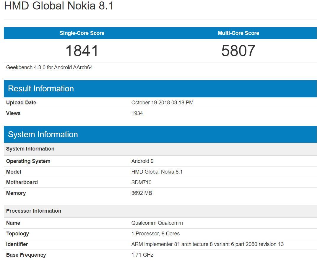 Nokia-8.1-benchmarks-leaked