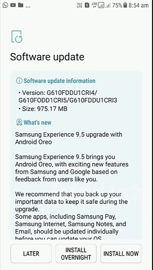 Samsung Galaxy J7 Prime In India Now Gets The Android 8 0 Oreo Update