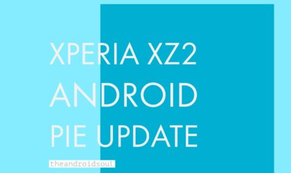 Sony's Xperia XZ2 receiving Android 9 Pie stable update