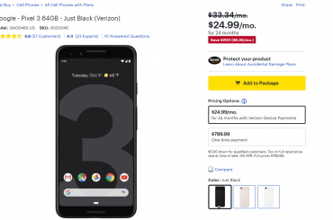 Best buy offering $200 discount on Pixel 3, Pixel 3 XL and $400 discount on Pixel 2 XL