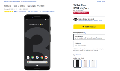 Best Buy offering $200 discount on Pixel 3, Pixel 3 XL and $400 discount on Pixel 2XL