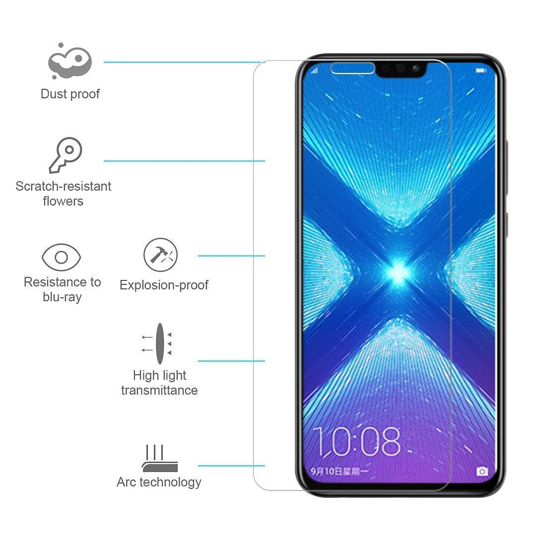 Honor-8X-Fashionista-Screen-protector