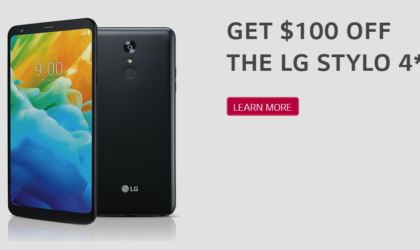 LG Stylo 4 deal: $100 off at Sprint for a limited time
