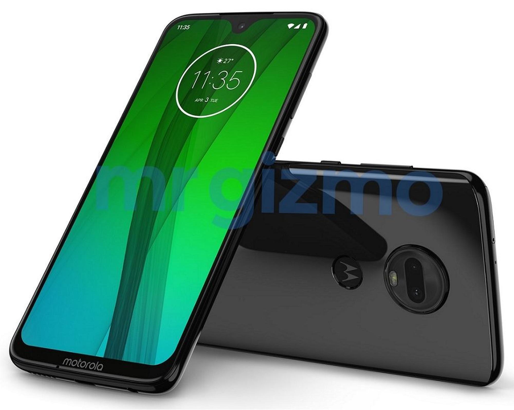 Leaked Moto G7 image renders reveal waterdrop notch and dual rear cameras