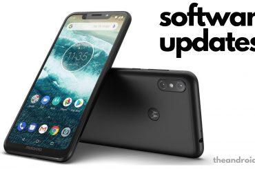 Moto One software updates