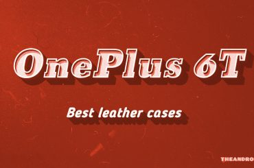 OnePlus 6T leather cases