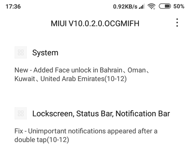 Redmi 6 MIUI 10 update