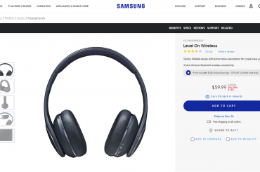 Samsung Level On wireless headphones