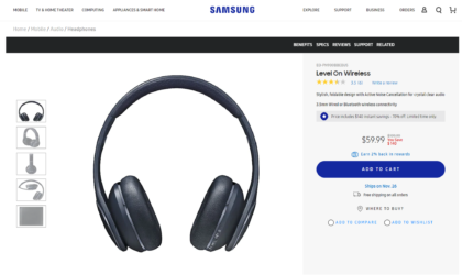 Get the Samsung Level On Wireless headphones for just $60 now
