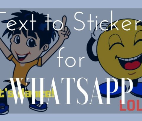 How to write text on WhatsApp stickers
